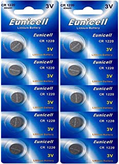 c05527a9a586b3 10 x CR1220 marque eunicell pile bouton lithium 3 v eunicell distribution  allemagne