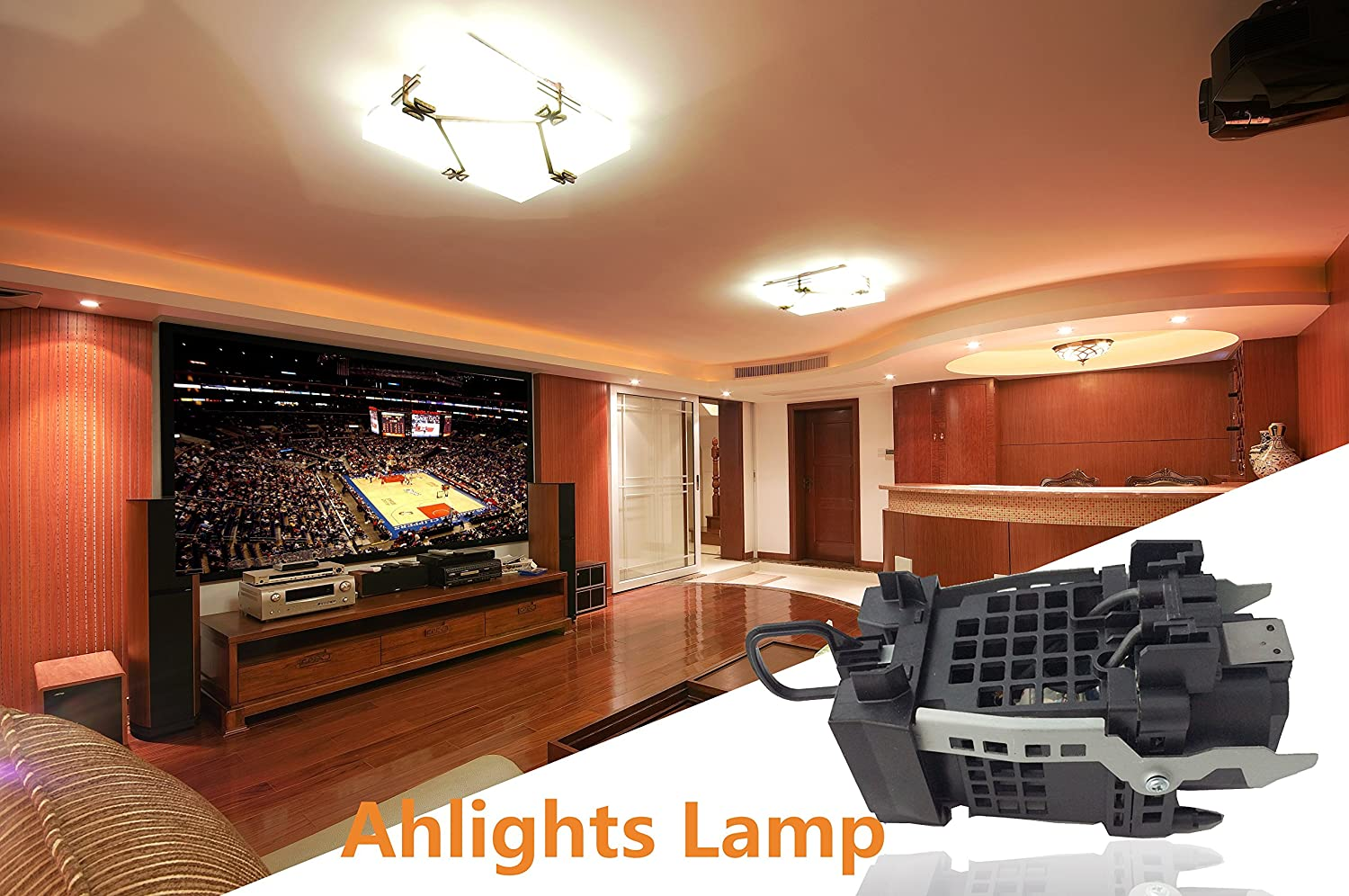Ahlights XL-2400 Replacement Lamp with Housing for TVs