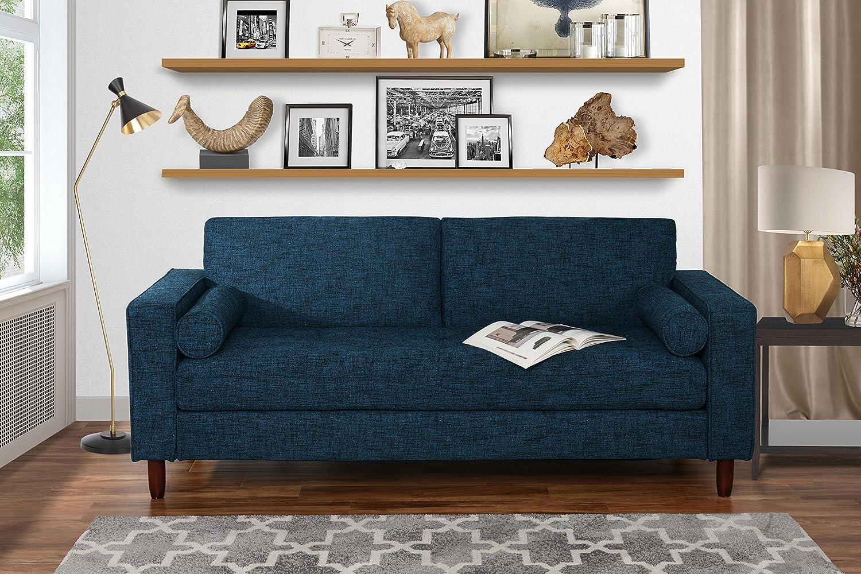 Amazon.com: Modern Fabric Sofa with Tufted Linen Fabric - Living ...