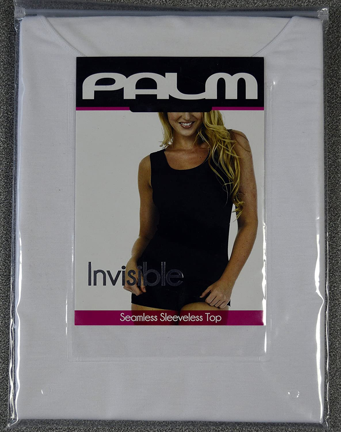 bee2f1abf14b62 Palm Ladies Womens Invisible Seamless Sleeveless Thermal Vest Top Base  Layer  Size 12