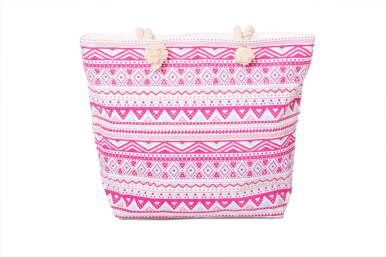 Patr/ón azteca AIREE FAIREE Bolsa de playa grande del verano para mujer 47 x 35 x 15 cms