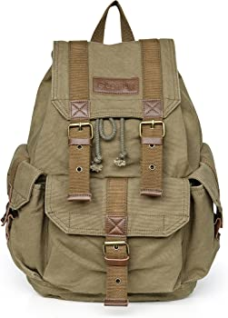 Gootium Eco-friendly Thick Canvas Backpack