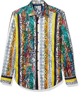ROBERT GRAHAM Mens RHONE RIVER Embroidered Classic-Fit Shirt RF181073CF Size M