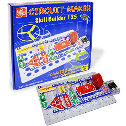 Buy Elenco Circuit Maker 125 Skill Builder Electronics Discovery Kit ...