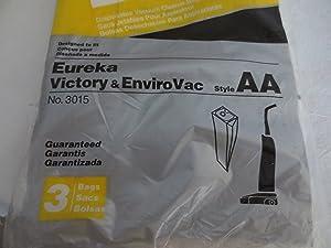 Vacuum Cleaner Bags ... Designed to fit Eureka Victory & EnviroVac ... Style AA ... 3 Bags