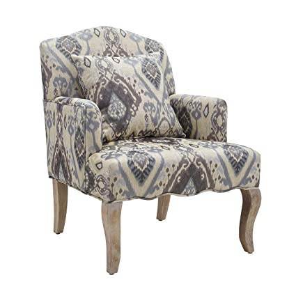 Linon Ikat Accent Arm Chair