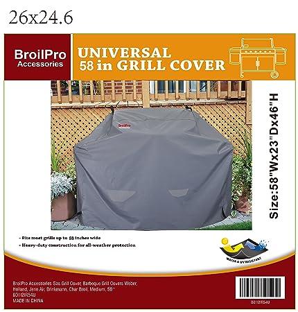 Amazon.com: broilpro accesorios gas Grill cubierta, barbacoa ...