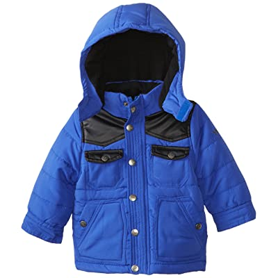 3be478dcbac4 YMI Baby Boys  Jacket Bubble with Contrasting Pleather Yoke and Pocket