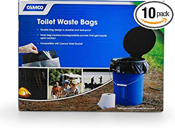Camco Toilet Waste Bags (10 pack)
