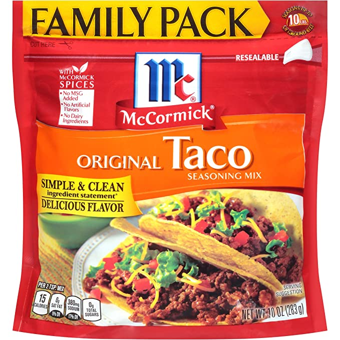 Amazon Com Mccormick Taco Seasoning Mix 10 Oz Grocery Gourmet Food