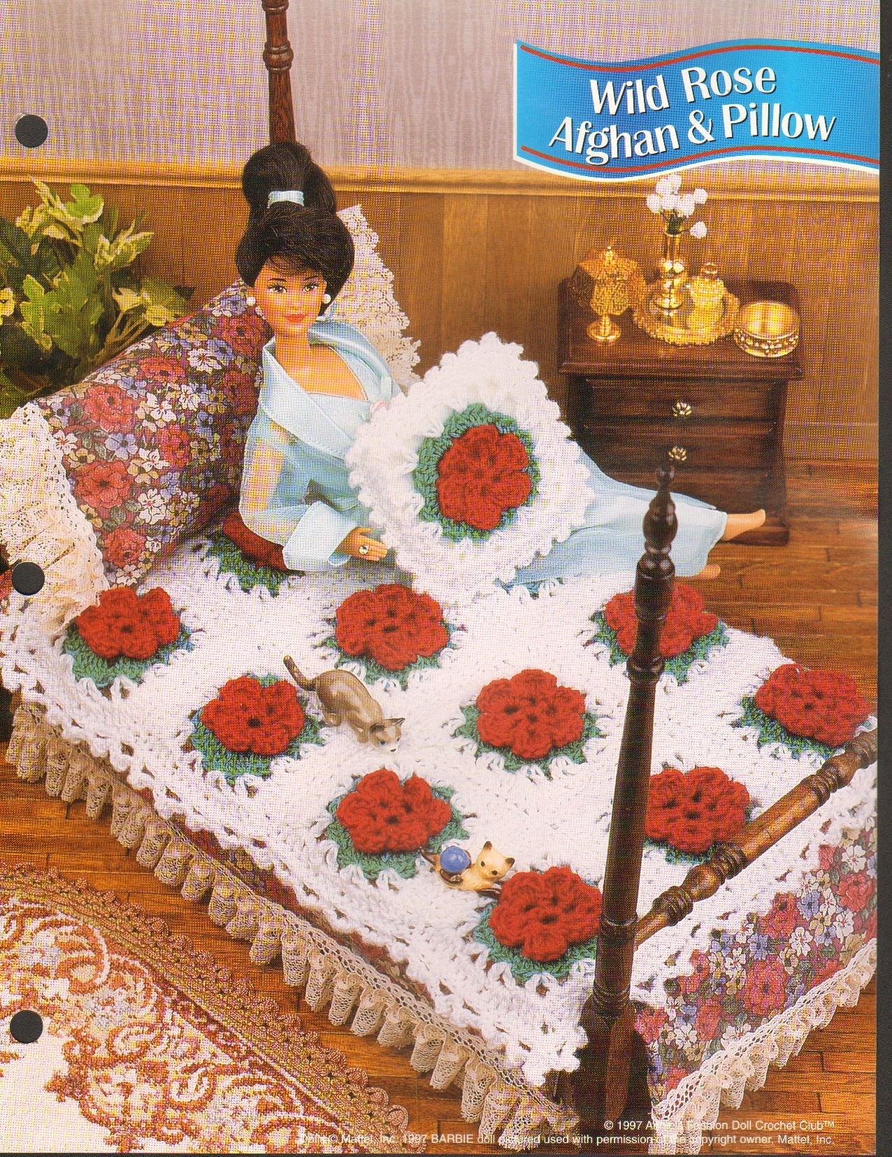 1997 Annies Attic Fashion Doll Crochet Club Pattern Leaflet Wild