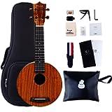 Beginner Ukulele, Soprano Ukulele Lico 21 inch Hawaiian Uke Mini Guitar Starter Kit Musical Instruments Educational Toys…