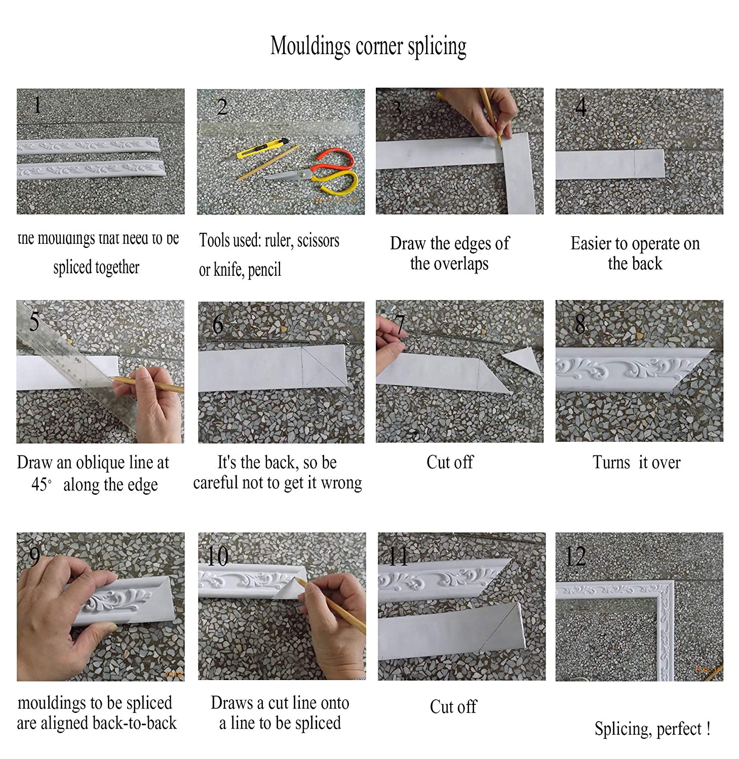 1.8 x 115 Zhangbl Flexible Moulding Trim for Background Wall or Wall Waist 1.8 inch Width x 0.31 Thickness 4.6cm