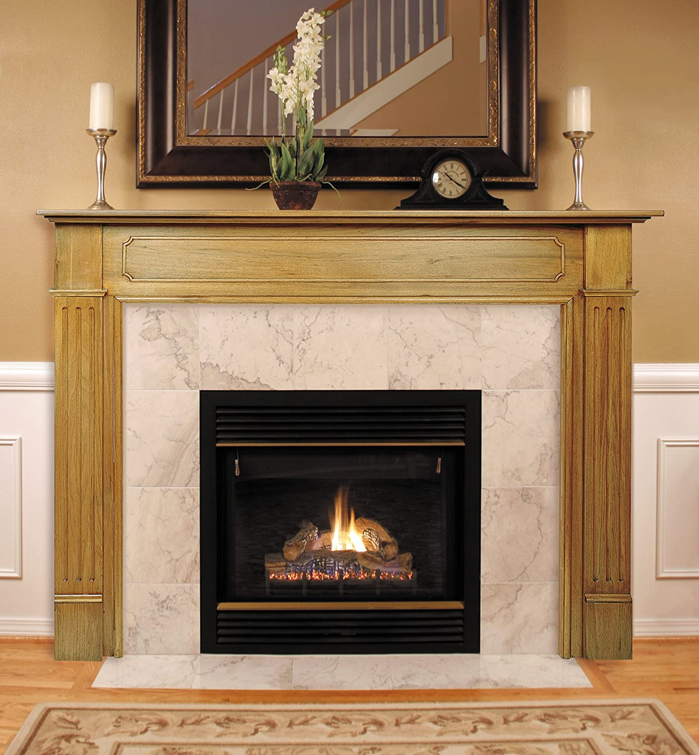 amazon com pearl mantels 110 50 williamsburg fireplace mantel 50