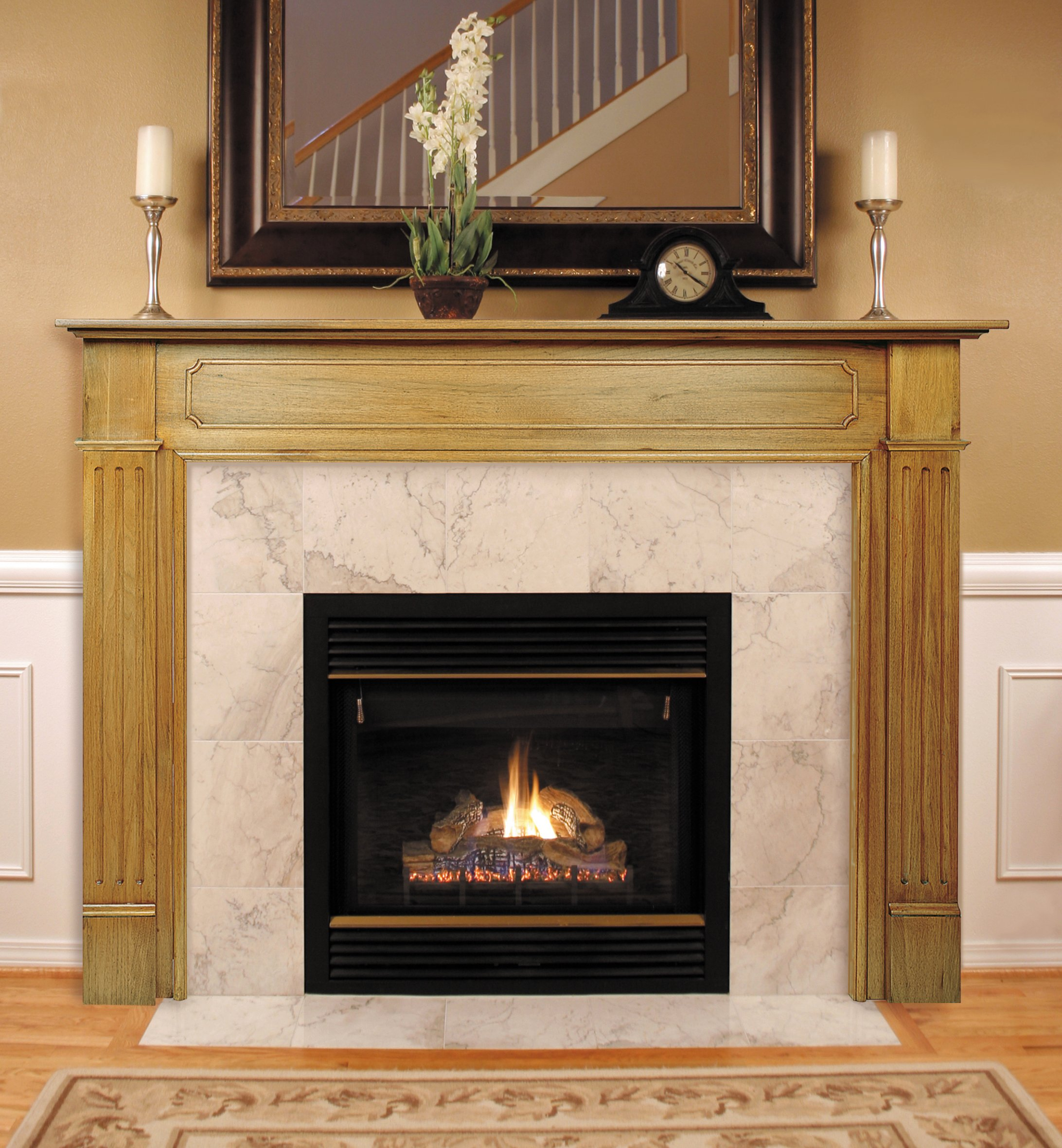 Pearl Mantels 110-56 Williamsburg Fireplace Mantel, 56-Inch, Unfinished by Pearl Mantels