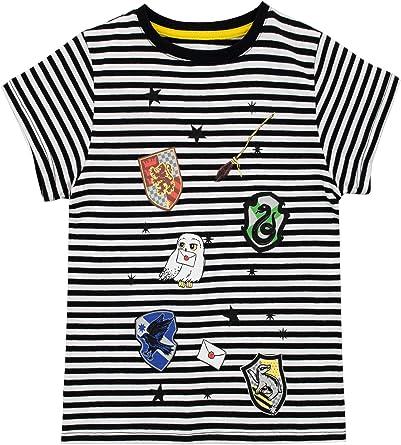 HARRY POTTER Camiseta de Manga Corta para niñas Los Escudos de Las Casas de Hogwarts Multicolor 4-5 Años: Amazon.es: Ropa y accesorios
