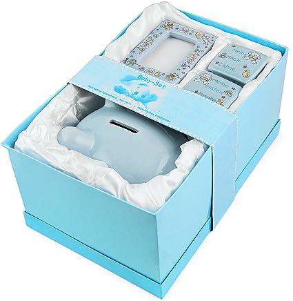 BRUBAKER Regalo para Bebé niño Mi primera alcancía con caja para mi primer diente