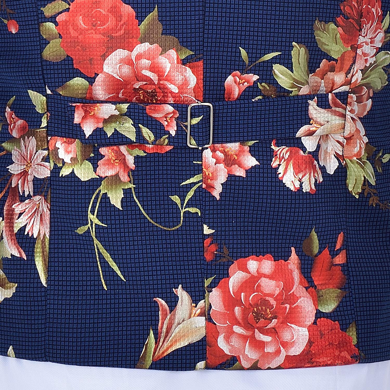 Springplus Mens Business Formal Printed Slim Fit Suit Vest Solid Tuxedos Waistcoat for Wedding Groomsmen