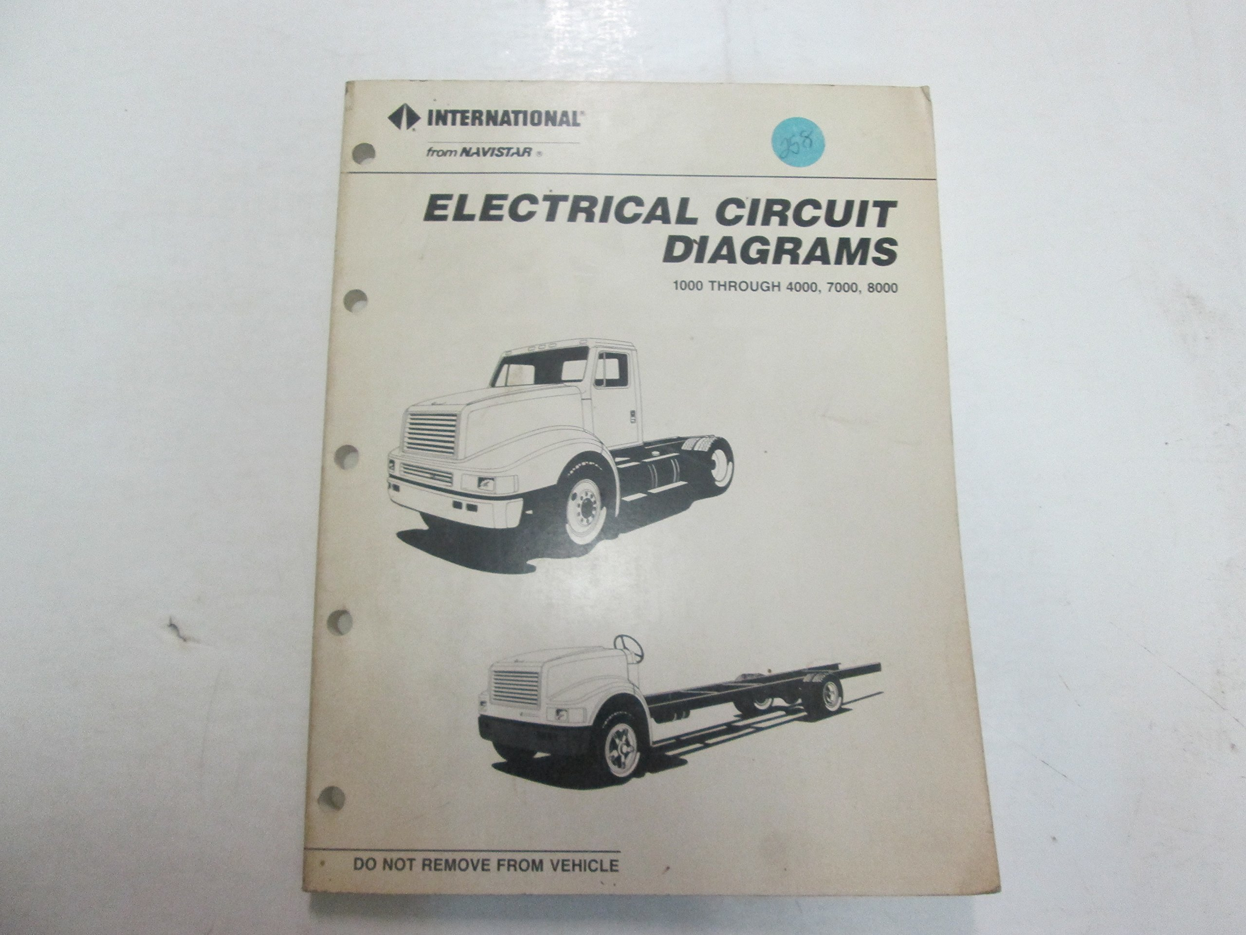 International 1000 4000 7000 8000 Electrical Circuit Diagrams Manual Ford Xh Ute Wiring Diagram Stains Worn Books