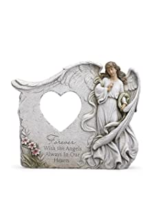 Forever In Our Hearts with Angels 12 x 9.75 Inch Resin Decorative Frame