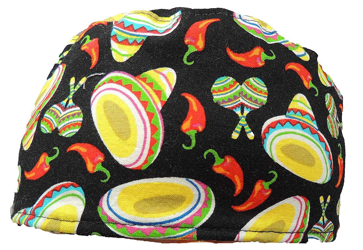 Sombreros /& Red Chlis Medical Surgical Scrub Hat 100/% Cotton with Tie Back Closure