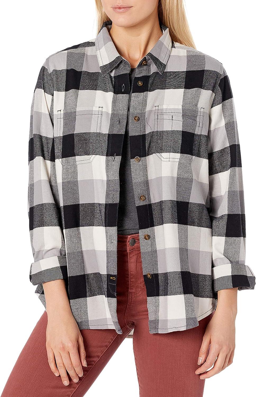 Carhartt Hamilton Plaid Flannel Shirt Work Utility Button ...