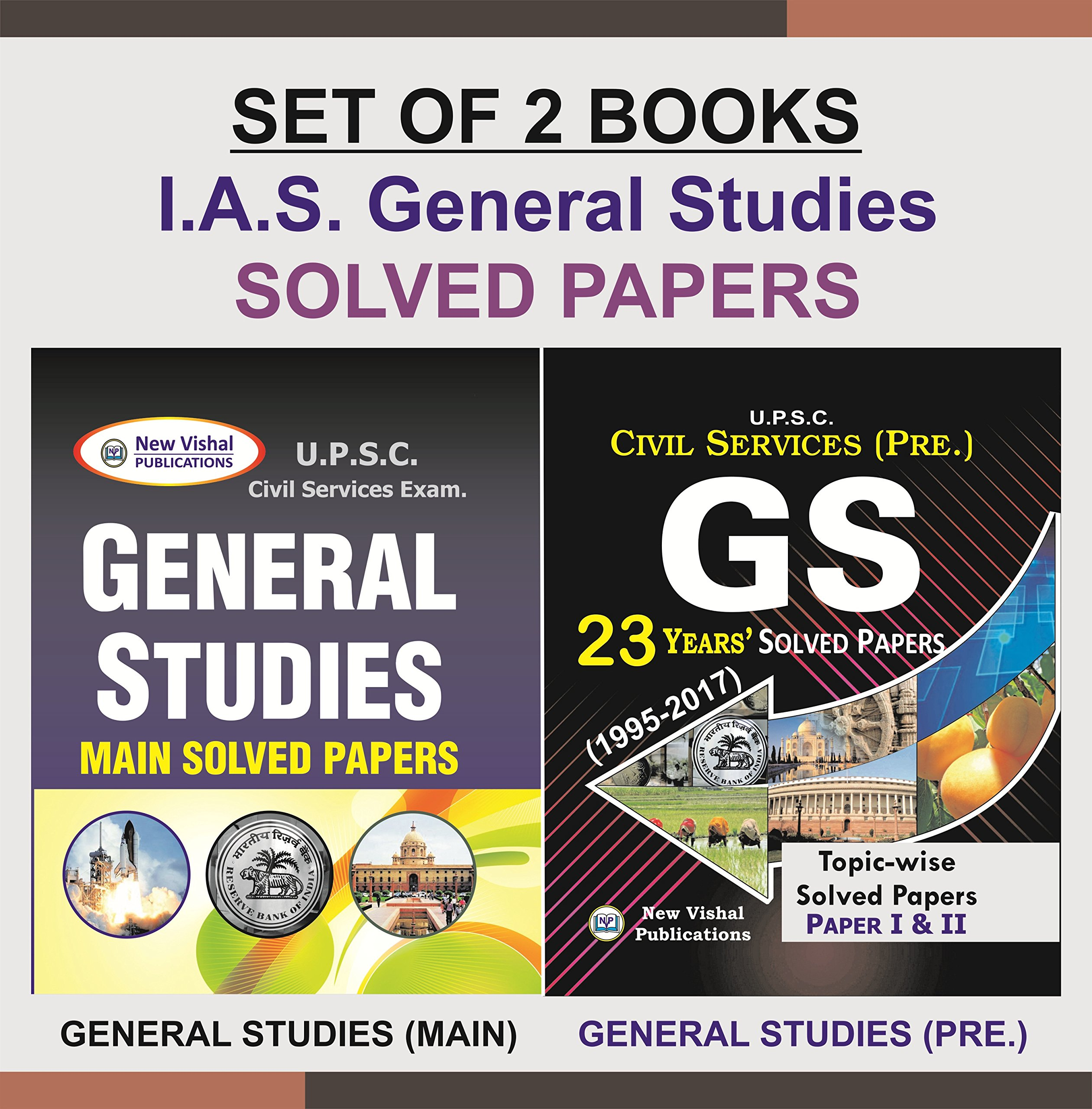 Buy Ias General Studies Prelims And Mains Solved Papers Set Of 2