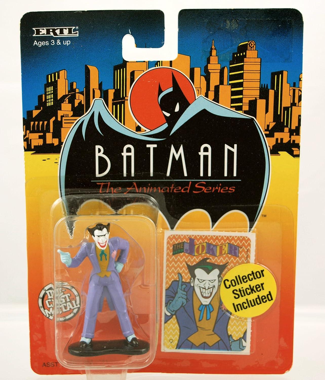 Ertl  1993  Batman the Animated Series  Joker Figure  Die Cast Metal  w  Collector Sticker  Rare  Limited Edition  Mint  Colelctible