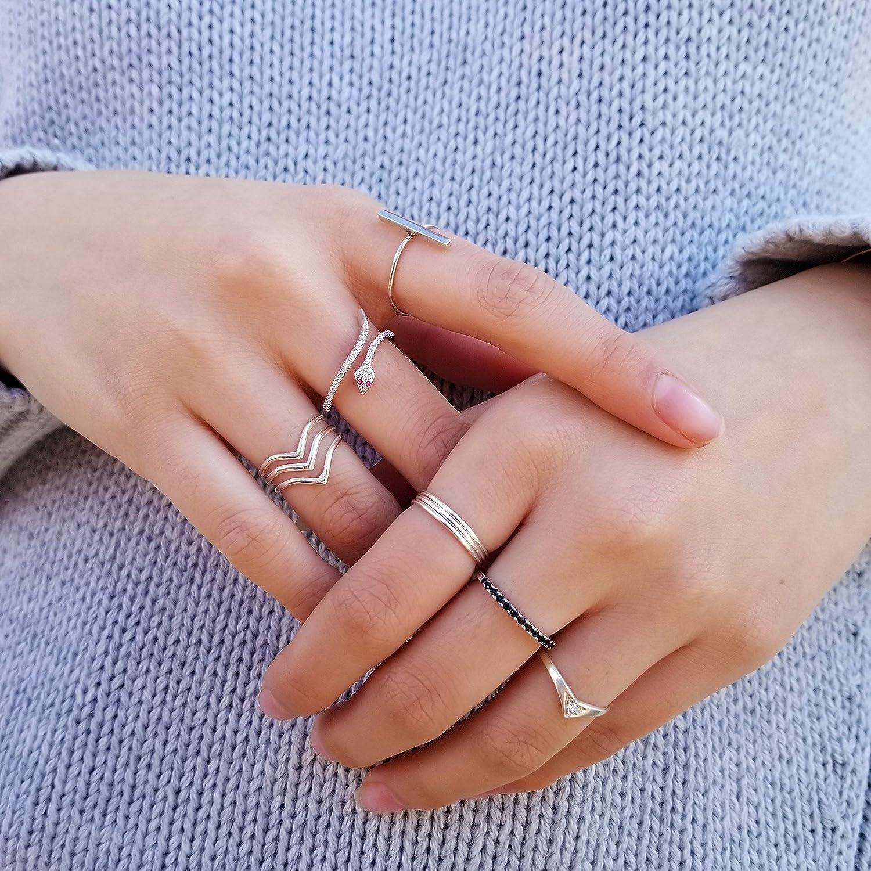 da73196863728 Amazon.com: Band Ring, Onyx Ring, Black Stone Ring, Minimalist Ring ...