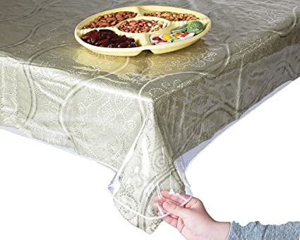 Super Clear And Durable 100% Vinyl Tablecloth Protector 70u0026quot; ...