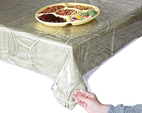 Super Clear And Durable 100% Vinyl Tablecloth Protector 60u0026quot; X 90u0026quot;  Oval