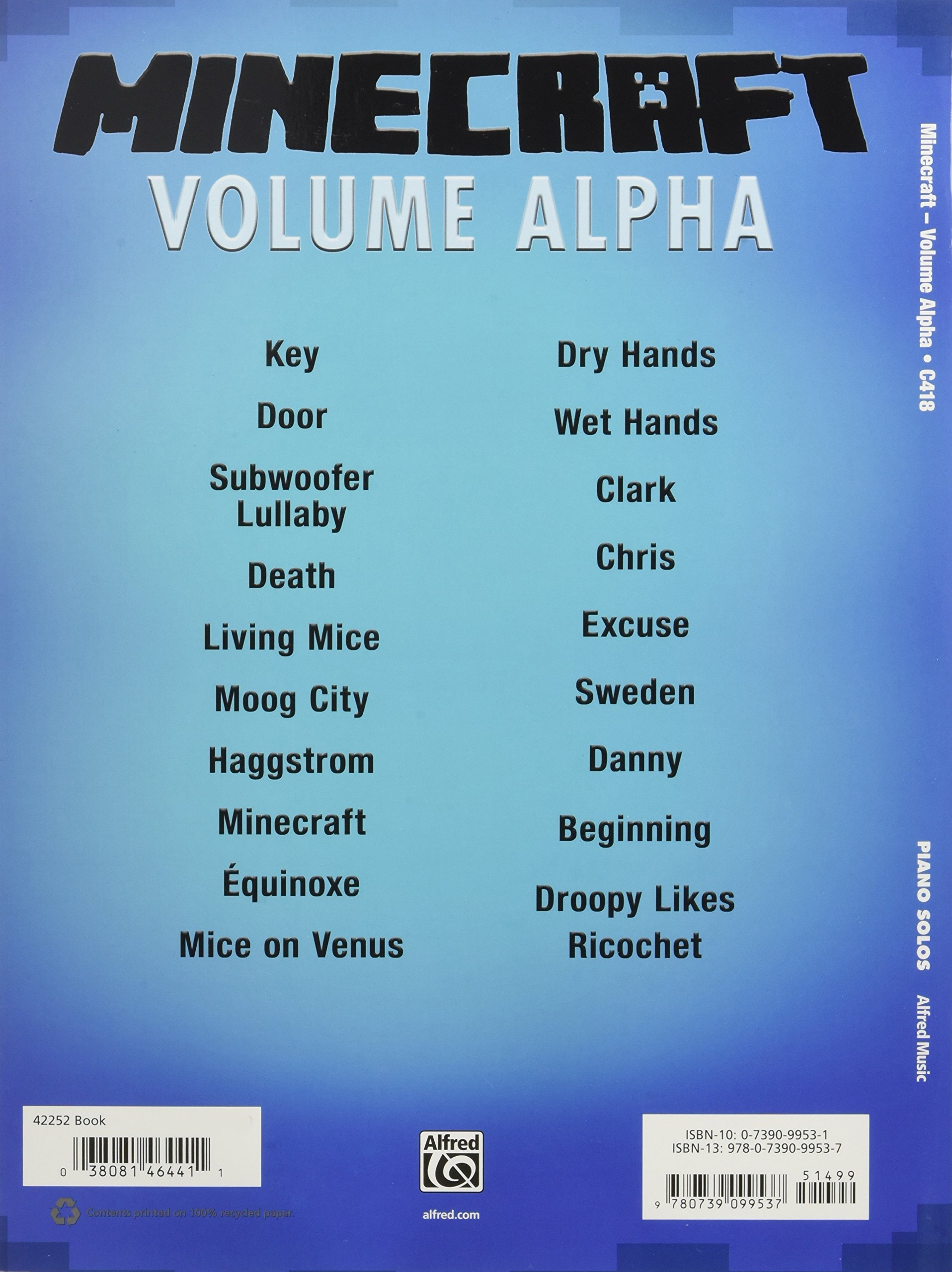 Minecraft -- Volume Alpha: Sheet Music Selections from the
