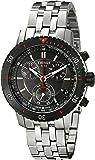Tissot Men's 42mm Steel Bracelet & Case Swiss Quartz Grey Dial Chronograph Watch T0674172105100
