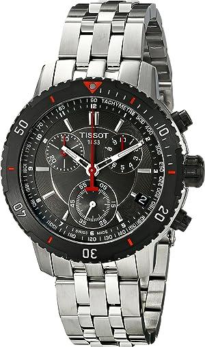 Tissot Men's T067.417.21.051.00 T-Sport Textured Dial Stainless Steel Watch