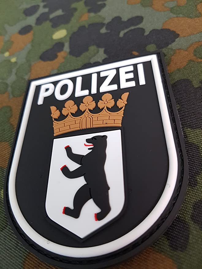 Atg Sleeve Badge Police Berlin 3d Rubber Patch Auto