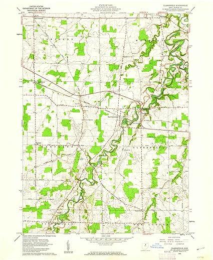 Amazon.com: Ohio Maps | 1960 Clarksfield, OH USGS Historical ... on