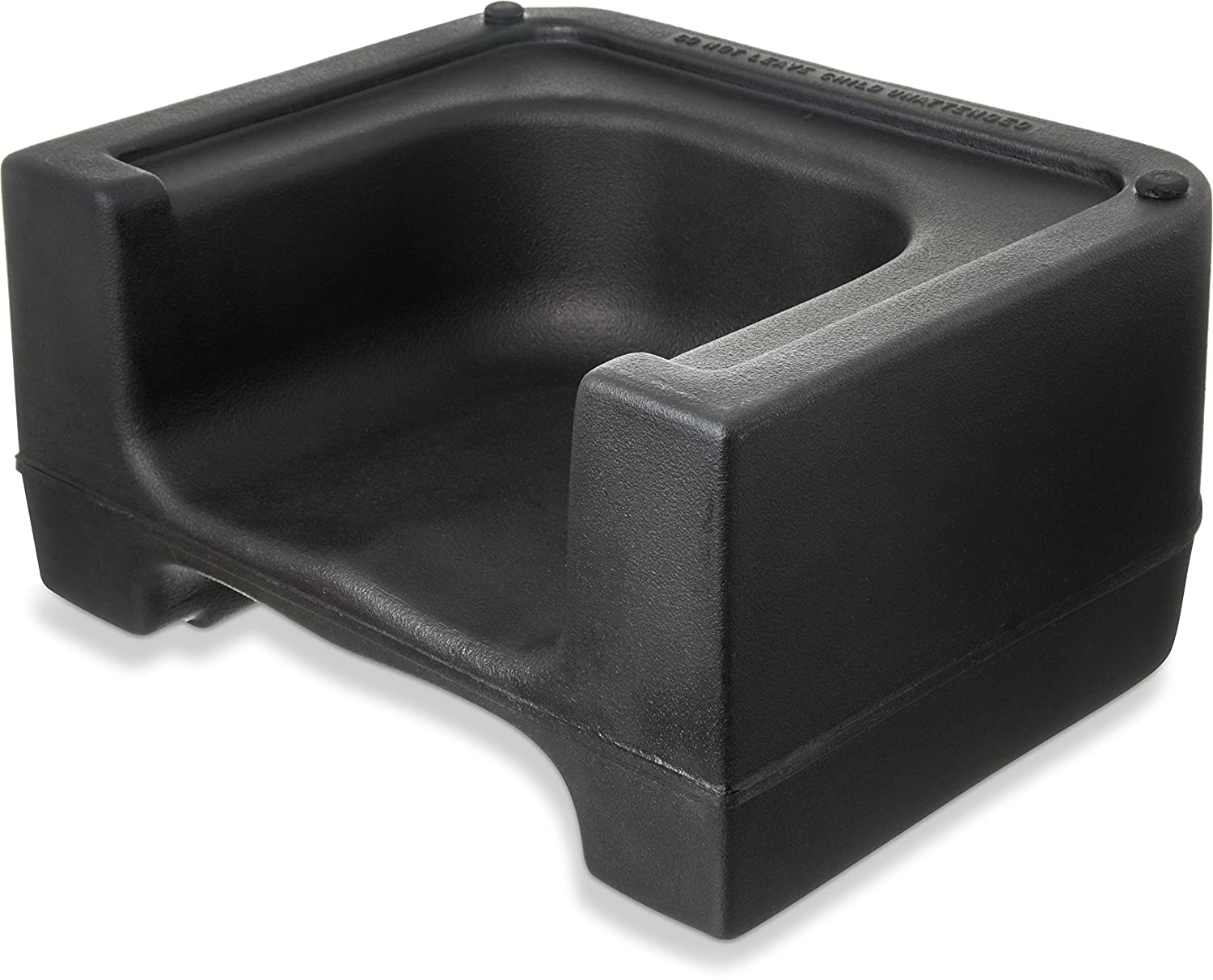 Image of Carlisle 711003 Polyethylene Extra Strong Booster Seat, 8' x 12.5' x 15.5', Black (Case of 4) Baby