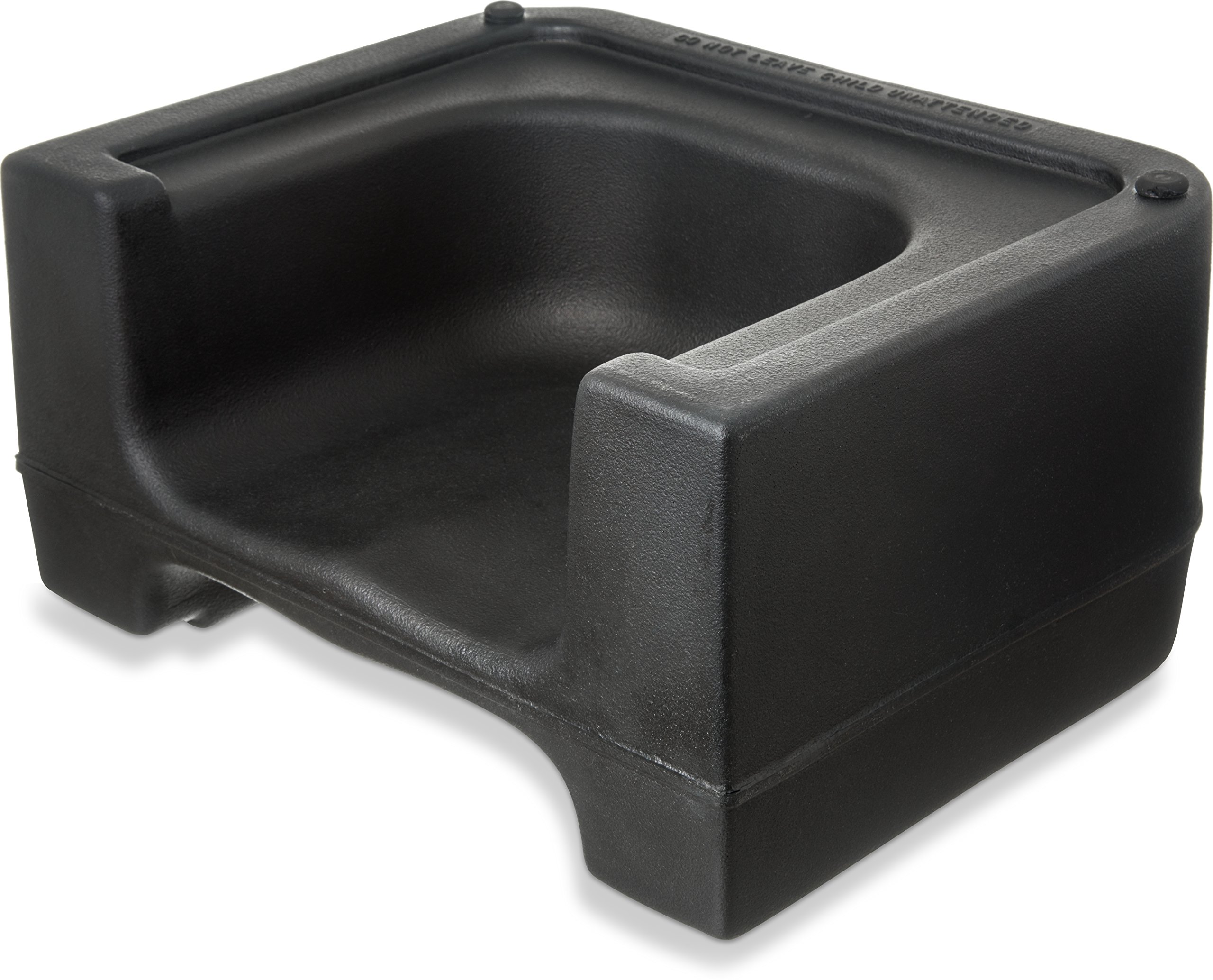 Carlisle 711003 Plastic Dual Seat Restaurant-Style Booster Chair, Black by Carlisle