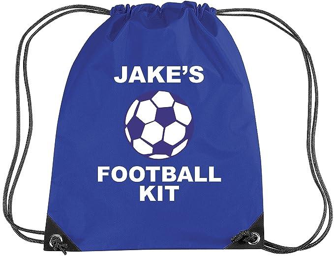Mochila para fútbol, azul real, personalizable-: Amazon.es: Ropa y accesorios