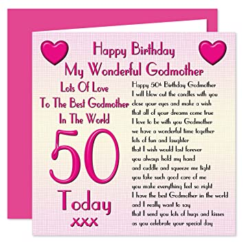 Godmother 50th Happy Birthday Card