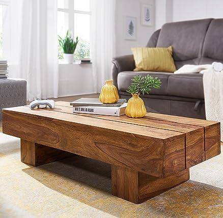 FineBuy tavolino in legno massello Sheesham 120 cm di larghezza ...