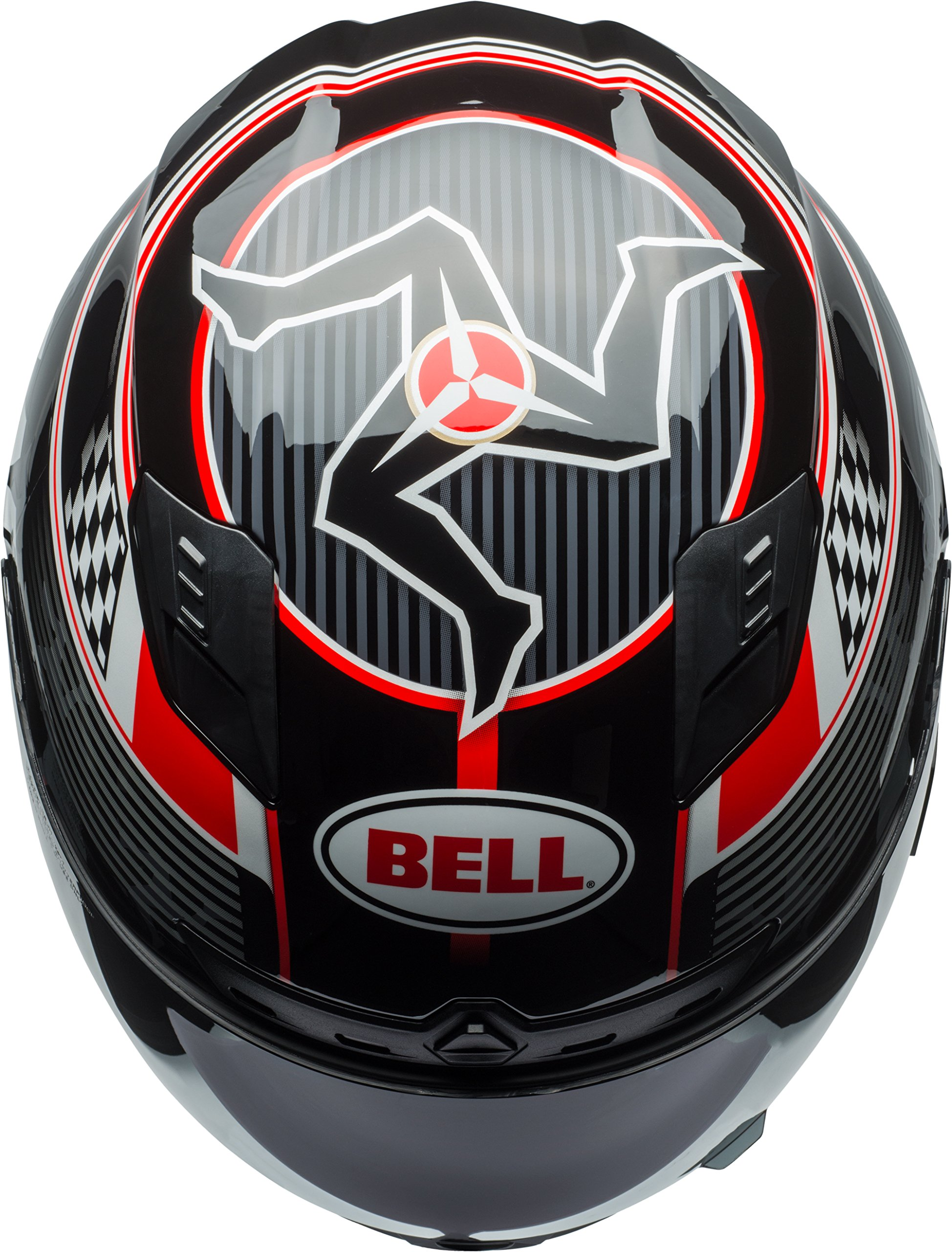 Bell Qualifier DLX Isle Of Man Black/Red Full Face Helmet - X-Large by Bell (Image #7)