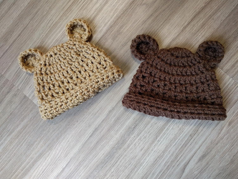 Cute Baby Teddy Bear Hat Props Crochet Baby Bear Toy Newborn Girl ... | 1125x1500
