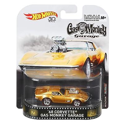 Hot Wheels Gas Monkey 68 Corvette Vehicle, 1:64 Scale: Toys & Games [5Bkhe0306662]