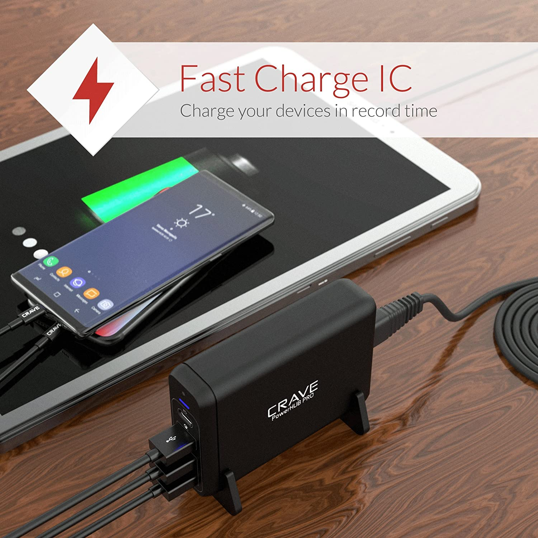 Amazon.com: Crave PowerHub Desktop Charger Interior Negro ...