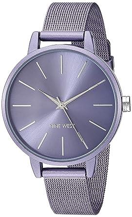 Amazon.com: Nine West - Reloj de pulsera de malla para mujer ...