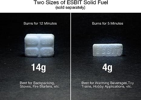 Esbit Combustible sólido 12x14g Riesenwürfel Fã¼r TK Gross, 12Tab, Blanco, 106x88x31 mm