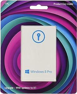 Windows 8 Pro Upgrade 32/64 Bit (Product Key Card) - w / Free Updates to 8.1 Pro - And Free Updates to Windows 10 (when released)
