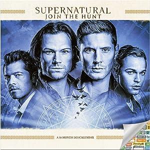 Supernatural TV Show Calendar 2021 Bundle - Deluxe 2021 Supernatural Mini Calendar with Over 100 Calendar Stickers (Supernatural Gifts, Office Supplies)