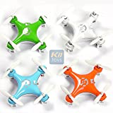 """KiiToys Quadcopter Drone RC Helicopter Quad Copter Toy - Family Pack of 4 - Fly all 4 together - Micro Mini Nano Size - 3D Flip Air Light Show - 6 Axis Gyro - 4 Channels Radio Control - 2.4 ghz 100 ft range - """"Smallest QuadCopter in the world"""" with KiiToys Warranty + Tech Support (Pack of 4 included Color: Orange, Green, Blue, White)"""